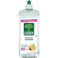 L'ARBRE VERT Liquide vaisselle mains écologique citron 750ml