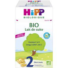 HIPP Lait de croissance 2 bio en poudre dès 6 mois 700g