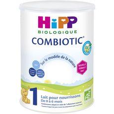 HIPP Lait de croissance bio en poudre Ccombiotic 1 dès la naissance 800g