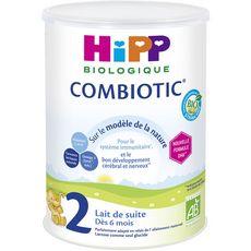 HIPP Combiotic 2 Lait 2ème âge bio en poudre dès 6 mois 800g