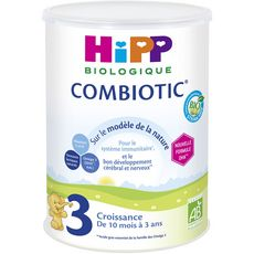 HIPP Lait de croissance bio en poudre Combiotic 3 dès 10 mois 800g
