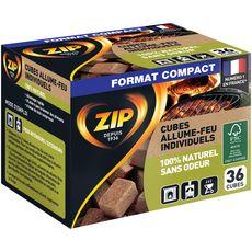ZIP Cubes allume-feu individuels sans odeur 36 cubes