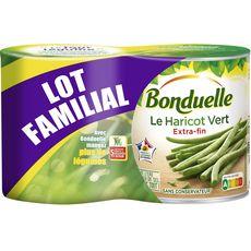 BONDUELLE Haricots verts extra fins rangés format familial 2x440g