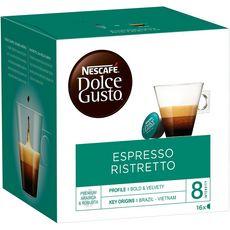 DOLCE GUSTO Capsules de café espresso ristretto 16 capsules 104g