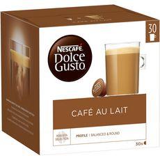DOLCE GUSTO Capsules de café au lait 30 capsules 300g