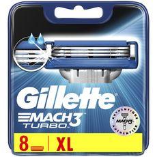 GILLETTE Mach3 Turbo recharge lames de rasoir 8 recharges