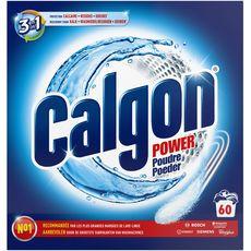 CALGON Power Poudre anti-calcaire lave-linge 3 en 1 60 lavages 1,5kg