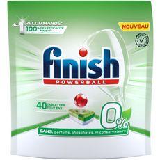 Finish Powerball tablettes tout en 1 lave-vaisselle 0% x40