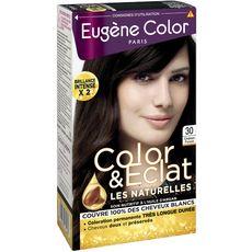 EUGENE COLOR Eugène Color Coloration permanente très longue durée 30 châtain foncé 3 produits 1 kit