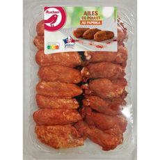 AUCHAN Auchan Ailes de poulet au paprika 570g 570g