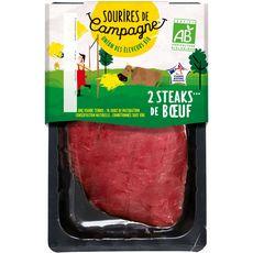 SOURIRE DE CAMPAGNE Steaks de boeuf bio 2 pièces 260g
