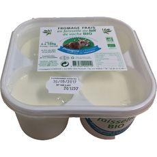 FROMAGERIE LE VENTOUX Faisselle au lait de vache bio 4x100g