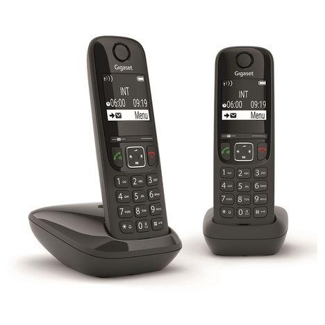 GIGASET Téléphone sans fil - AS690 Duo - Noir