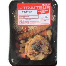 AUCHAN LE TRAITEUR Couscous aux légumes et à la viande 1 portion 350g