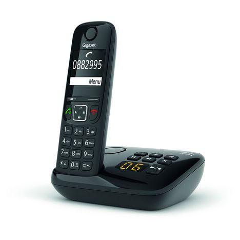 GIGASET Téléphone sans fil - AS690A Solo - Répondeur - Noir