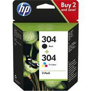 HP HP PACK Cartouches d'encre N°304 Noir + Couleurs
