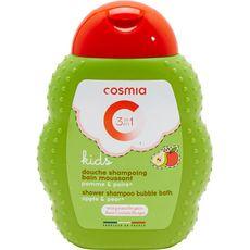 COSMIA Gel douche enfants corps bain cheveux pomme poire 250ml