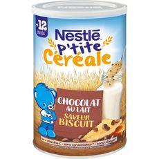 Nestlé NESTLE P'tite céréale chocolat au lait biscuité en poudre dès 12 mois