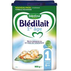BLEDINA Blédilait 1 lait 1er âge en poudre dès la naissance 900g