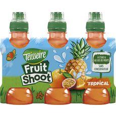 TEISSEIRE Fruit shoot boisson aux fruits saveur tropicale bouteilles 6x20cl