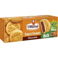 ST MICHEL St Michel Biscuits sablés bio fourrés au chocolat sans huile de palme x9 9 biscuits 140g