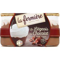 LA FERMIERE Liégeois au chocolat 2x130g