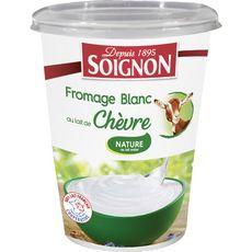 SOIGNON Fromage blanc au lait de chèvre 400g