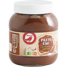 AUCHAN Pâte à tartiner au cacao et noisettes sans huile de palme Pasta Cao 750g