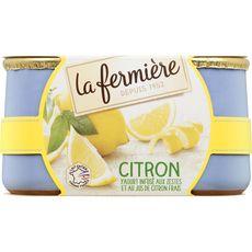 LA FERMIERE Yaourt au citron 2x140g