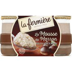 LA FERMIERE Mousse aux marrons sur lit de crème de marrons 2x100g
