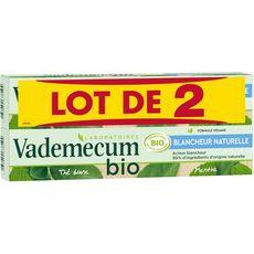 Vademecum dentifrice blancheur naturelle bio 2x75ml