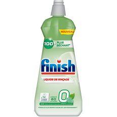 Finish Liquide de rinçage 0% lave-vaisselle 100% plus séchant 400ml