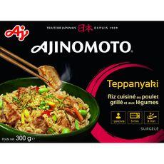 Ajinomoto Teppanyaki riz blanc cuisiné au poulet grillé aux légumes 330g