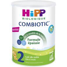 HIPP Lait de suite 2ème âge bio en poudre Combiotic formule épaissie dès 6 mois 800g