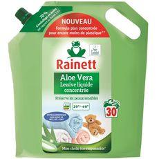 RAINETT Lessive liquide hypoallergénique à l'aloe vera 30 lavages 1,5l