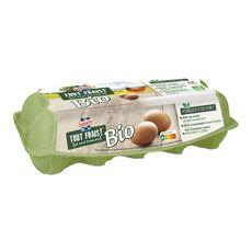 LUSTUCRU Oeufs bio de poules élevées en plein air 10 œufs
