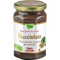 NOCCIOLATA Pâte à tartiner bio au cacao et noisettes sans huile de palme 350g