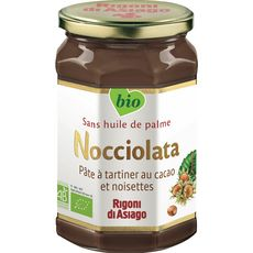 NOCCIOLATA Pâte à tartiner bio au cacao et noisettes sans huile de palme 700g