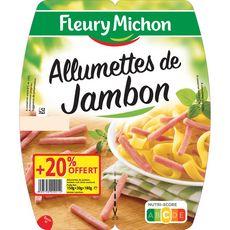 FLEURY MICHON Fleury Michon Allumettes de jambon 2x75g + 20% offert + 20% offert 2x75g
