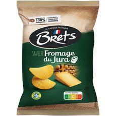 BRETS Chips ondulées saveur fromage du Jura 125g