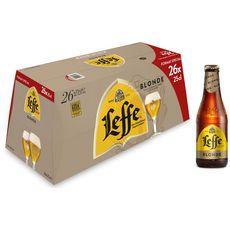 Leffe Bière blonde 6,6% bouteille 26x25cl