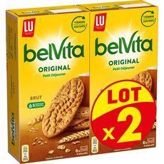 BELVITA Original Biscuits petit-déjeuner aux 5 céréales sachets fraîcheur Lot de 2 2x400g