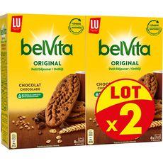 BELVITA Original Biscuits petit-déjeuner au chocolat sachets fraîcheur 2x400g