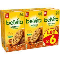 BELVITA Biscuits Petit Déjeuner miel et pépites de chocolat sachets fraîcheur 6x435g