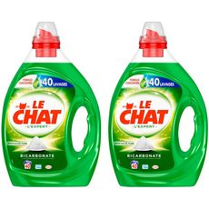 LE CHAT Le Chat Lessive liquide au bicarbonate 2l + 2l offert 80 lavages 80 lavages 2l + 2l offert