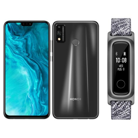 HONOR Smartphone 9X Lite 128 Go 6.5 pouces Noir + Montre connectée Band 5 Sport Gris