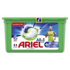 Ariel Pods Lessive capsules écodoses active tout en 1 31 lavages
