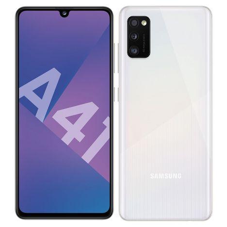 SAMSUNG Smartphone Galaxy A41 64 Go 6.1 pouces Blanc 4G Double port NanoSim
