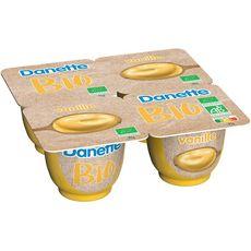 DANETTE Crème dessert bio à la vanille 4x95g
