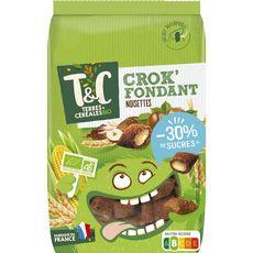 TERRES ET CEREALES Crok'fondant céréales noisettes bio -30% de sucres 375g